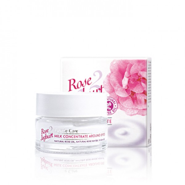 Milk Concentrate Around Eyes  ROSE JOGHURT  with Rose Oil and Probiotic 15 ML